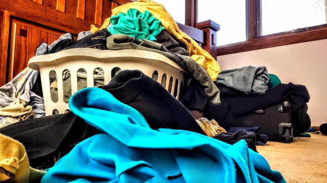 The dreaded laundry monster. These are clean and have been sitting here since at least Thanksgiving.